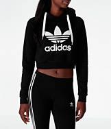 Women's adidas Originals Trefoil Crop Hoodie