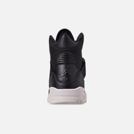 Back view of Women's Air Jordan Retro 3 Explorer XX Casual Shoes in Black/Black/Sail