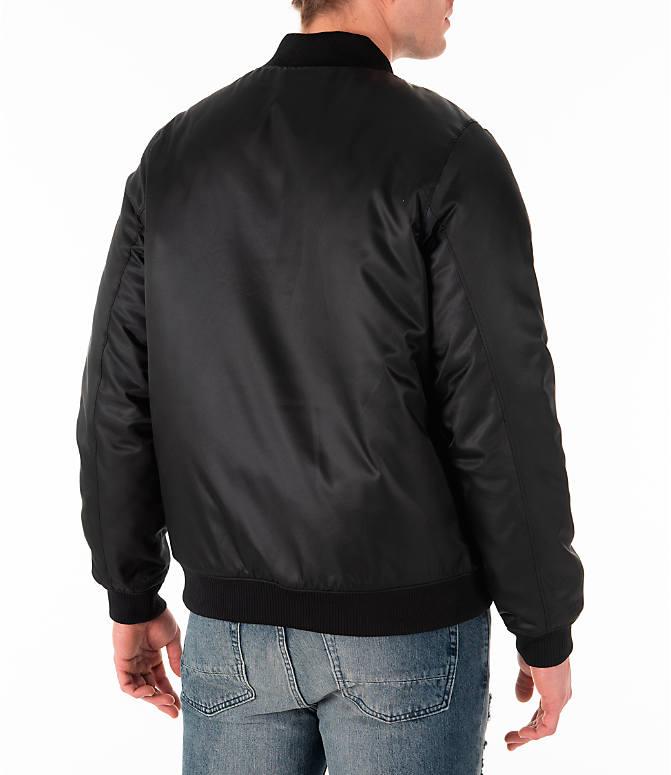 d452ee15fc33d1 Back Right view of Men s Jordan Sportswear Legacy AJ11 Bomber Jacket in  White