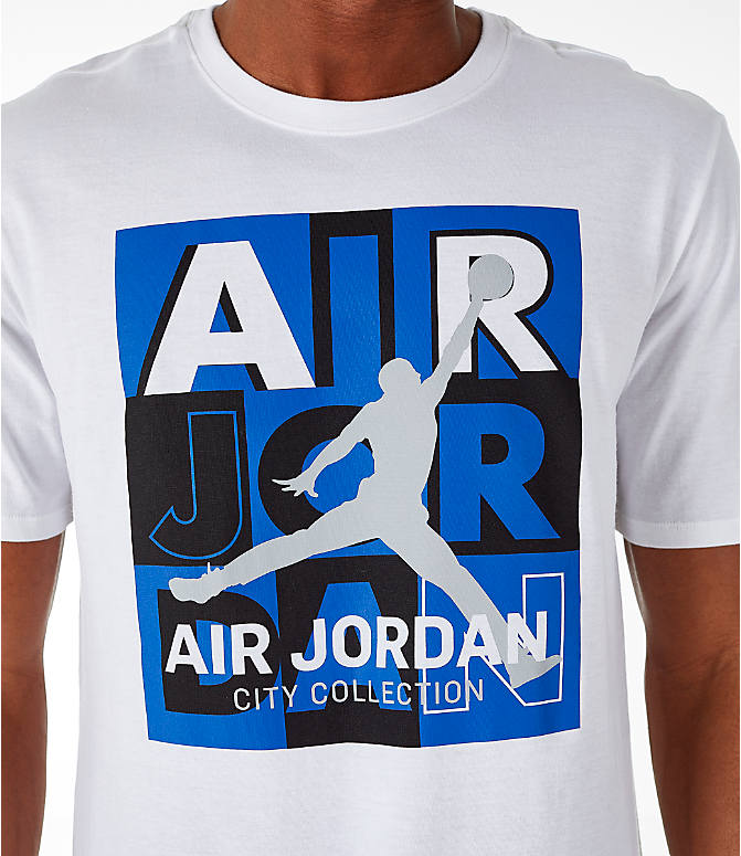 Detail 1 view of Men's Air Jordan 10 Retro Legacy T-Shirt in White