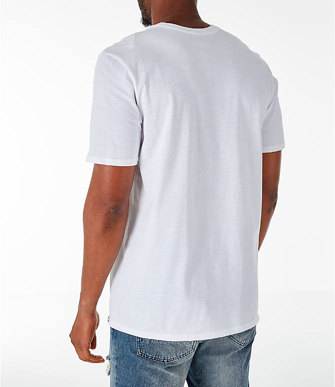 Back Left view of Men's Air Jordan 10 Retro Legacy T-Shirt in White