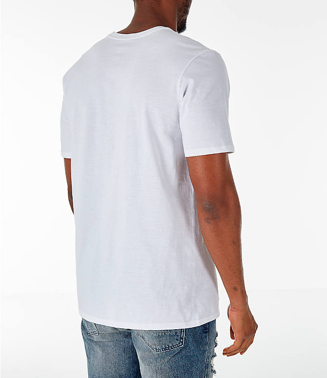 Back Right view of Men's Air Jordan 10 Retro Legacy T-Shirt in White