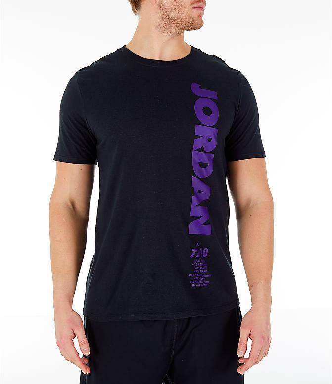 53922495aec270 Front view of Men s Air Jordan 11 Retro Legacy T-Shirt in Black