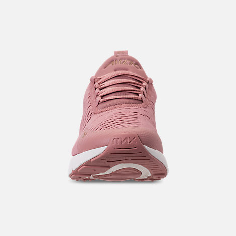 Front view of Women's Nike Air Max 270 Casual Shoes in Rust Pink/Metallic Red Bronze/Sail