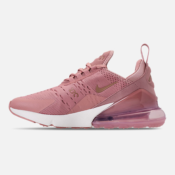 Left view of Women's Nike Air Max 270 Casual Shoes in Rust Pink/Metallic Red Bronze/Sail