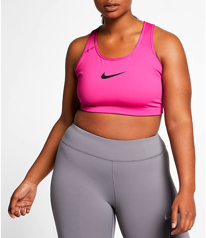 e0c911e55541c Front view of Women's Nike Swoosh Medium-Support Sports Bra - Plus Size in  Active