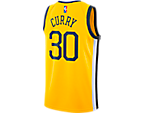 Men's Nike Golden State Warriors Nba Stephen Curry Earned Edition Swingman Jersey by Nike