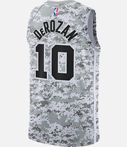 Men's Nike San Antonio Spurs NBA DeMar DeRozan Earned Edition Swingman Jersey