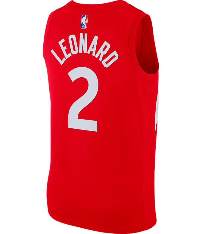 Front view of Men s Nike Toronto Raptors NBA Kawhi Leonard Earned Edition  Swingman Jersey in University 6815a7909