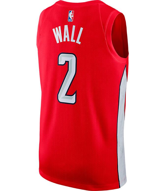 newest 43f18 14478 Men's Nike Washington Wizards NBA John Wall Earned Edition Swingman Jersey