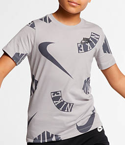 Boys' Nike Sportswear Allover Print Logo T-Shirt
