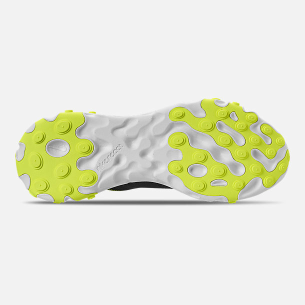 Bottom view of Women's Nike React Element 55 Casual Shoes in Black/Volt/Cool Grey/White