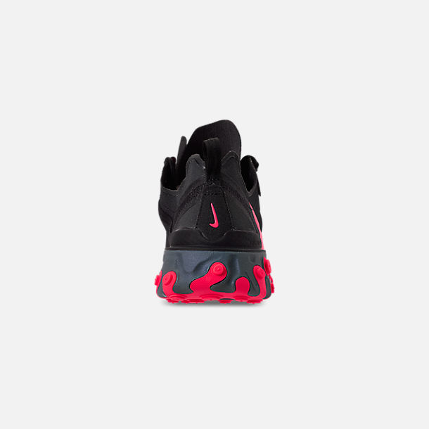 Back view of Women's Nike React Element 55 Casual Shoes in Black/Solar Red/Cool Grey/Dark Grey