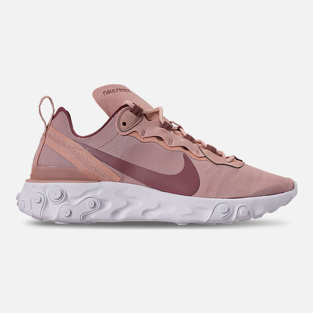 san francisco 063d6 fc2ed Right view of Women s Nike React Element 55 Casual Shoes in Particle  Beige Smokey Mauve