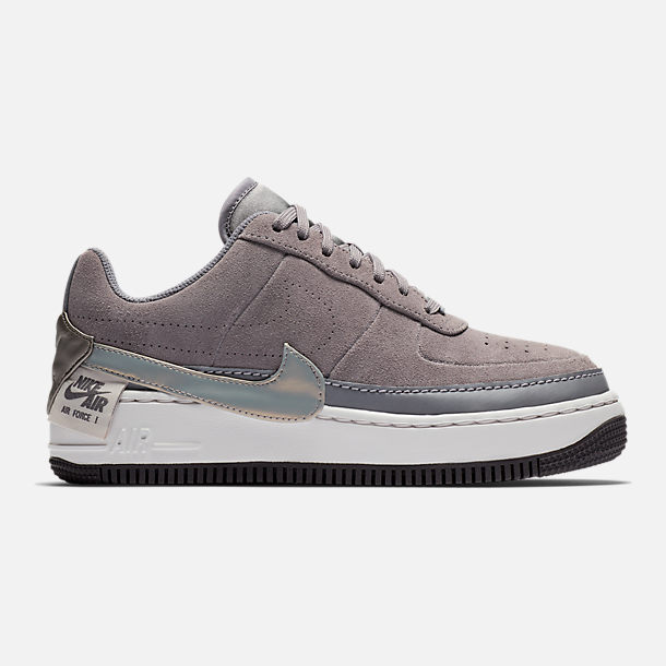 Right view of Women's Nike Air Force 1 Jester Low Casual Shoes in Gunsmoke/Metallic Pewter/Vast Grey