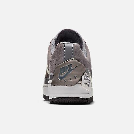 a5634c99470 Back view of Women s Nike Air Force 1 Jester Low Casual Shoes in Gunsmoke  Metallic