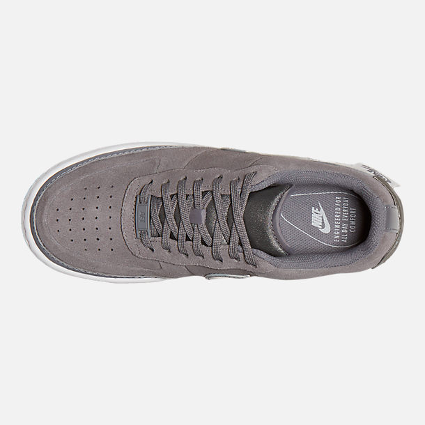 Top view of Women's Nike Air Force 1 Jester Low Casual Shoes in Gunsmoke/Metallic Pewter/Vast Grey