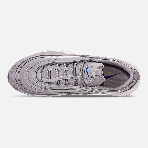 Top view of Men's Nike Air Max 97 WE Casual Shoes in Wolf Grey/Game Royal