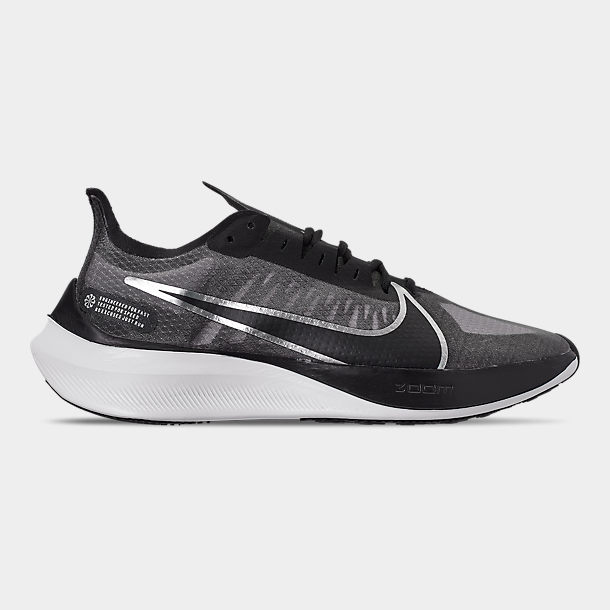 Right view of Women's Nike Zoom Gravity Running Shoes in Black/Metallic Silver/Wolf Grey/Whi