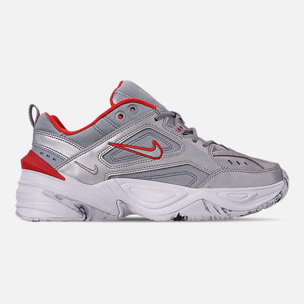 Right view of Women's Nike M2K Tekno NA Casual Shoes in Metallic Silver/Metallic Silver/White