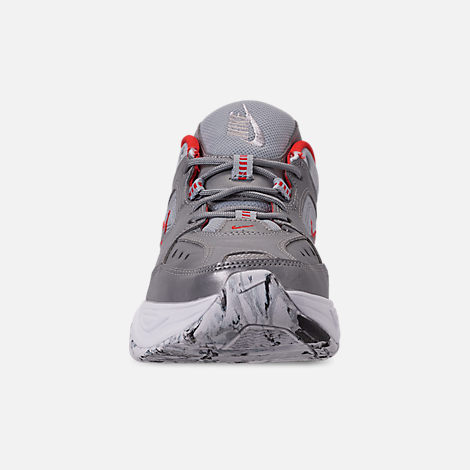 Front view of Women's Nike M2K Tekno NA Casual Shoes in Metallic Silver/Metallic Silver/White