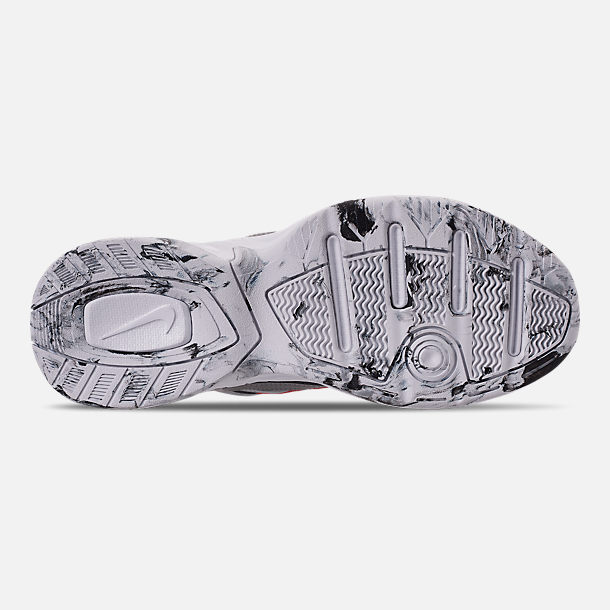 Bottom view of Women's Nike M2K Tekno NA Casual Shoes in Metallic Silver/Metallic Silver/White
