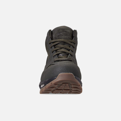 Front view of Men's Nike Air Max Goadome Boots in Sequoia/Gum Dark Brown/Black