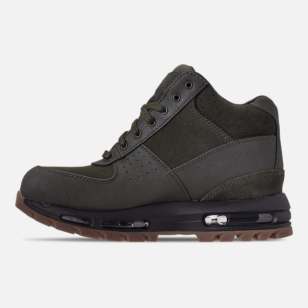 Left view of Men's Nike Air Max Goadome Boots in Sequoia/Gum Dark Brown/Black