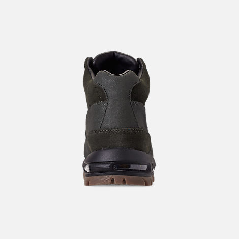 Back view of Men's Nike Air Max Goadome Boots in Sequoia/Gum Dark Brown/Black