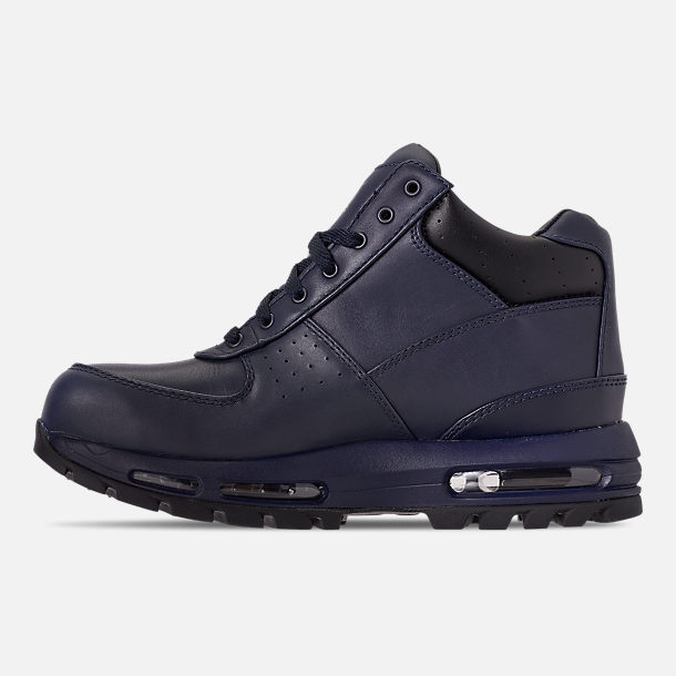 Left view of Men's Nike Air Max Goadome Boots in Obsidian/Black