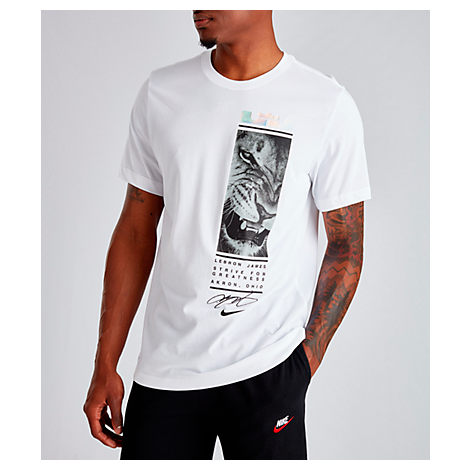 24779a15 Nike Men's Dri-Fit Lebron Lion Strive T-Shirt, White   ModeSens