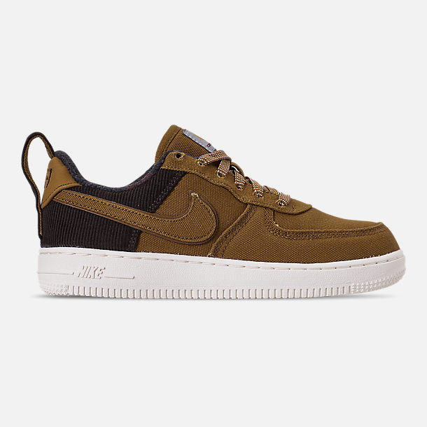 Right view of Boys' Little Kids' Nike Air Force 1 '07 Premium x Carhartt WIP Casual Shoes in Ale Brown/Ale Brown/Sail
