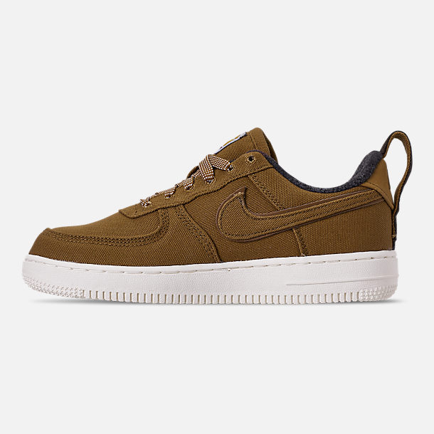 Left view of Boys' Little Kids' Nike Air Force 1 '07 Premium x Carhartt WIP Casual Shoes in Ale Brown/Ale Brown/Sail