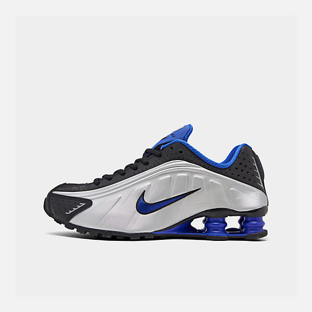 check out a8eb9 e9571 Right view of Boys  Big Kids  Nike Shox R4 Casual Shoes in Black