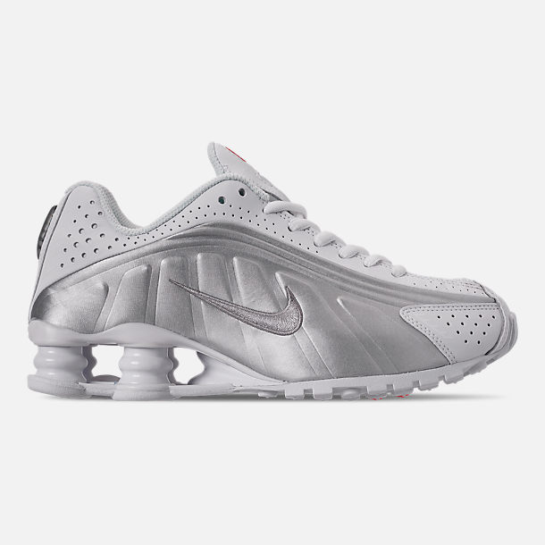 reputable site 8cf19 d223c Right view of Boys  Big Kids  Nike Shox R4 Casual Shoes in White