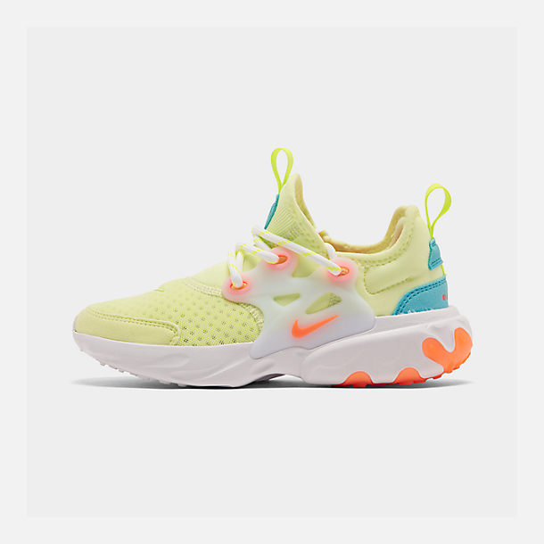 fa7991e223 Right view of Little Kids' Nike React Presto Running Shoes in Barely  Volt/Hyper