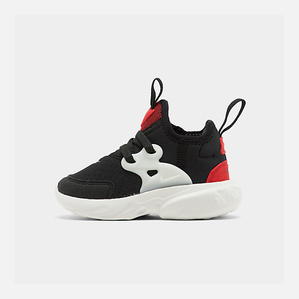 Right view of Kids' Toddler Nike React Presto Running Shoes in Black/Phantom/University Red