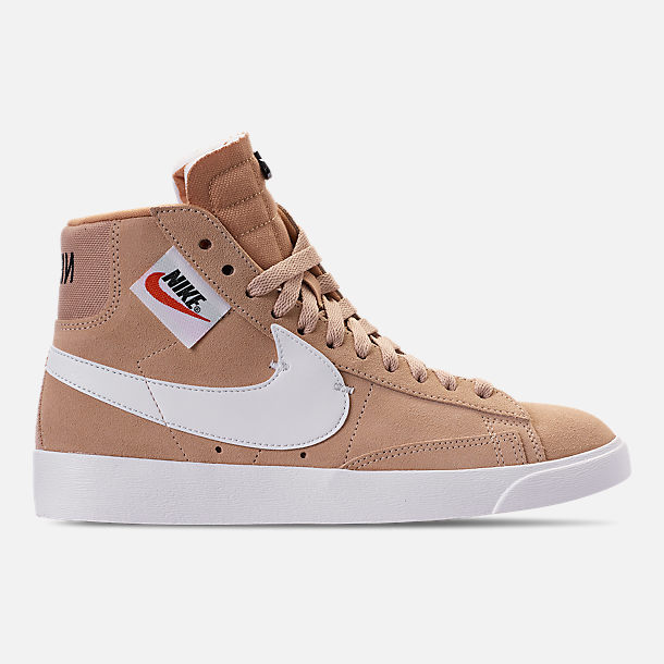 Right view of Women's Nike Blazer Mid Rebel Casual Shoes in Bio Beige/Summit White/Black/Praline