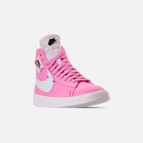2b31bcdbbad8c Three Quarter view of Women's Nike Blazer Mid Rebel Casual Shoes in Psychic  Pink/Summit