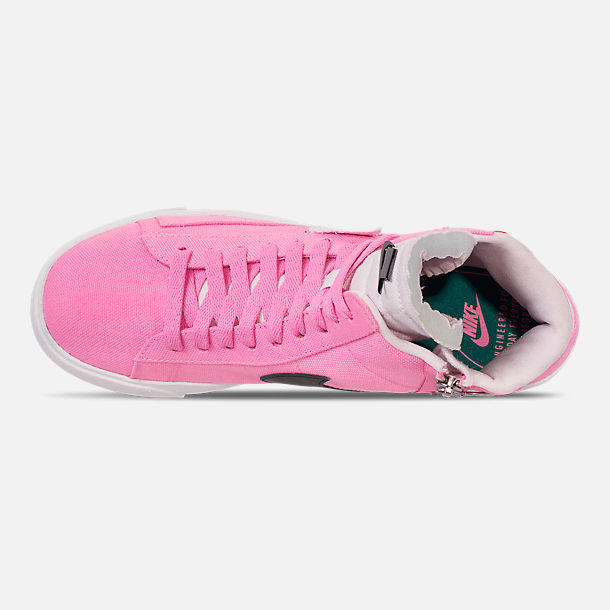 3a2b2313ee940 Top view of Women's Nike Blazer Mid Rebel Casual Shoes in Psychic Pink/Summit  White