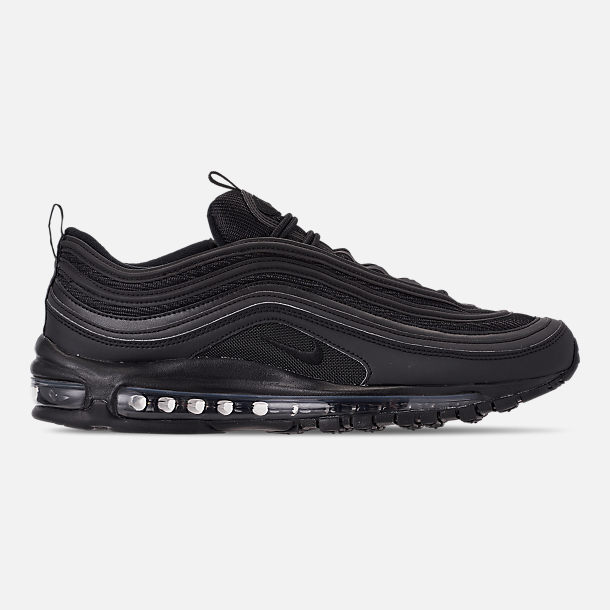 Right view of Men's Nike Air Max 97 WE Casual Shoes in Black/Black/Black