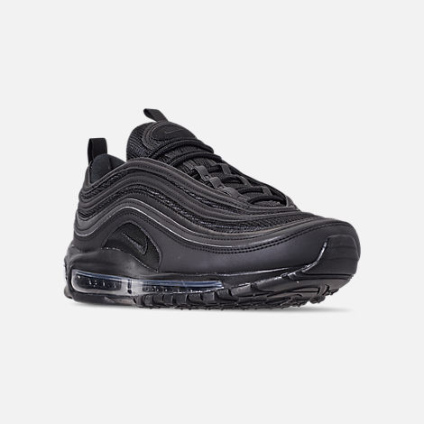 Three Quarter view of Men's Nike Air Max 97 WE Casual Shoes in Black/Black/Black