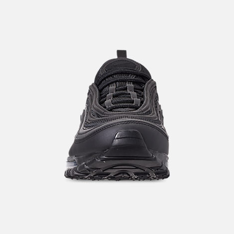 Front view of Men's Nike Air Max 97 WE Casual Shoes in Black/Black/Black