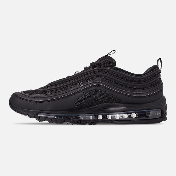 Left view of Men's Nike Air Max 97 WE Casual Shoes in Black/Black/Black