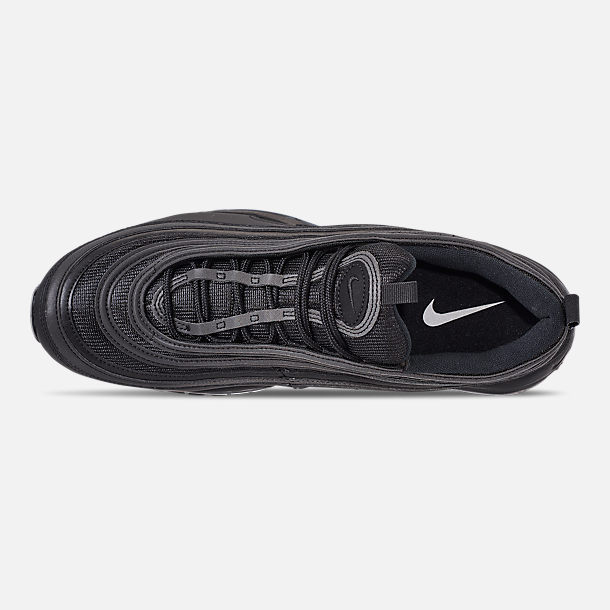 Top view of Men's Nike Air Max 97 WE Casual Shoes in Black/Black/Black