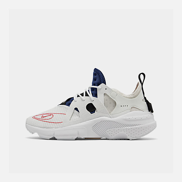 Right view of Men's Nike Huarache Type Running Shoes in Summit White/University Red/Deep Royal