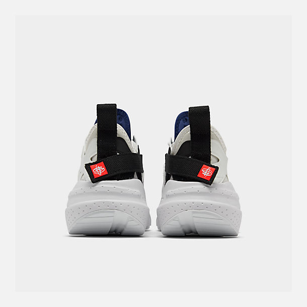 Left view of Men's Nike Huarache Type Running Shoes in Summit White/University Red/Deep Royal