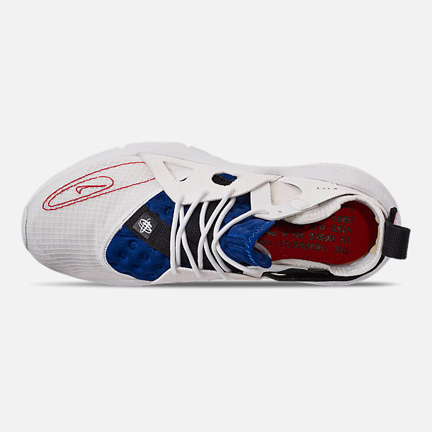 Top view of Men's Nike Huarache Type Running Shoes in Summit White/University Red/Deep Royal