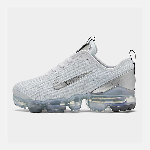 buy online 4f701 7fb13 Right view of Big Kids  Nike Air VaporMax Flyknit 3 Running Shoes in White