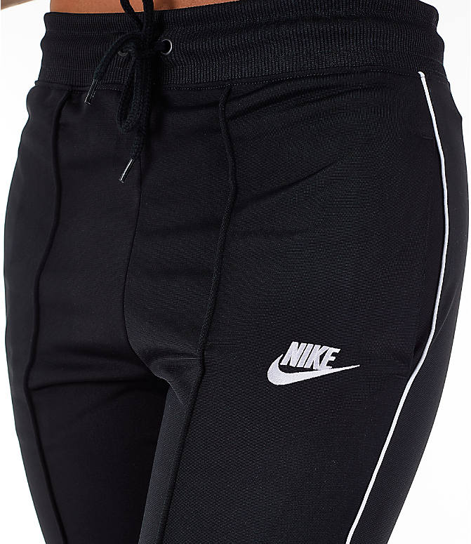 Detail 1 view of Women's Nike Sportswear Heritage Slim Pants in Black/White